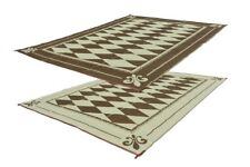 RV Patio Mat Motorhome Awning Mat Outdoor Reversible Regal Diamond 9x18 w/ Bag