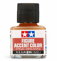 TAMIYA Panel Line Figure Accent Color 87201 Pink-Brown (40ml) For Model Kit