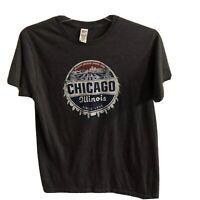 Chicago Cubs Bears Bulls White Sox Greatest Sports Town Shirt Dark Gray Hockey