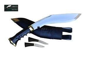 "Genuine Gurkha 10"" KUKRI Official Issued Gripper Horn Handle, Handmade in Nepal"