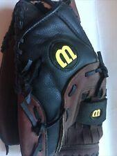 Wilson baseball glove used Genuine Leather Softball 13 A2581 Black/Brown