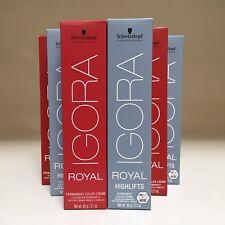 Schwarzkopf Igora Royal Permanent Hair Color Creme 2.1 oz   you choose