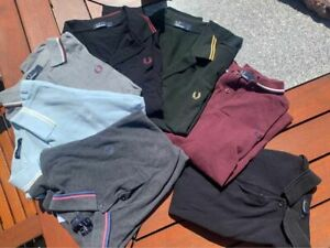 FRED PERRY Mens Polo Shirt Made In England 100% Cotton Size M Assorted Colours