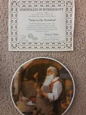 Norman Rockwell Christmas Collector Plates Set of 9