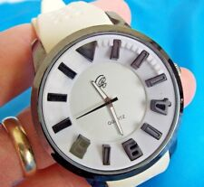 Charles Raymond    X Large    Rubber Band Stainless Steel  Watch 50mm