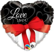 "Love You Red Ribbon 18"" Qualatex Foil Balloon"