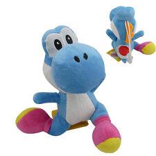 "Anime Super Mario YOSHI Running 35cm/14"" Soft Plush Stuffed Doll Toy Blue"