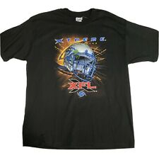 Vtg XFL Football Los Angeles Xtreme X-Large XL Champion Black T Shirt Brand New