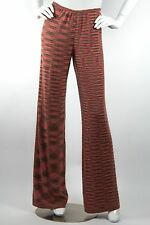 MISSONI NEW MultiColor Zig Zag Cashmere Chevron Flare Wide Leg Trousers Pant 40