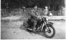 Unknown Man on A.J.S. Motorcycle - Real Photograph - Vintage