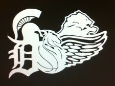 REDWINGS, TIGERS, PISTONS, LIONS, SPARTANS vinyl decal