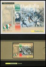 2011 - 150° Anniversario Unità d'Italia - Lamina Argento - n.08 - Tiratura 2000