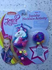 Brand New JoJo Siwa Squishy Unicorn Necklace Design your Own Activity Set