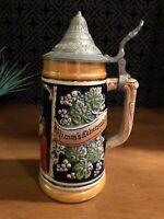 Vintage German Beer Stein Nimms Lebenwiesis die Kartensahennichts Stein