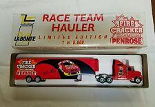 NASCAR TRUCK FIRE CRACKER 1/64 RACE TEAM HAULER  HOT SAUSAGE PENROSE TRAILER
