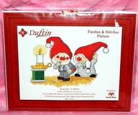 New Duftin Patches & Stitches Picture Counted Cross Stitch Kit Gnomes Elves