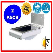 2Pack 16 LED Solar Power Motion Sensor Light Garden Lamp outdoor wateproof HT