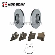 BMW F22 F23 F30 Set of 2 Front Vented Disc Brake Rotors with Pads and Sensor OEM