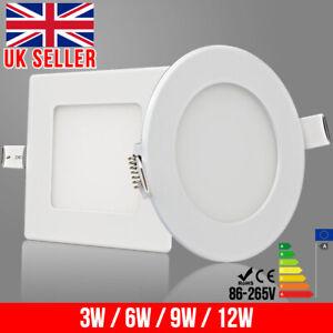 Spotlights LED Recessed Ceiling Light Panel Ultra Slim Round & Square Downlights