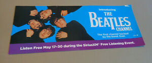 Introducing The Beatles Channel - Promotional Flyer - SiriusXM - 2017
