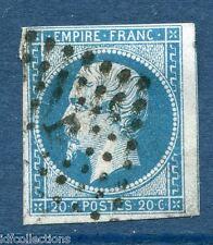 France Napoléon N°14A oblitéré Paris lettres romaines bureau J type II (à ergot)