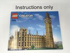 ONLY instruction manual Lego 10253 Creator Expert Big Ben no bricks/parts no box