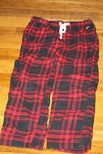 AMERICAN EAGLE FLANNEL PAJAMA/LOUNGE MEN'S PANTS SIZE SMALL RED/BLACK PLAID