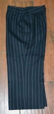 NWOT BRIGGS Black Striped Size 8 Petite Cuffed Crops Capri Gaucho Pants