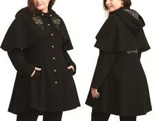 Torrid Harry Potter Capelet Solemnly Swear Black Trench Cape Coat Womens Plus 4X