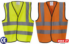 KIDS CHILDRENS HI-VIS REFLECTIVE VEST CYCLING SAFETY HIGH VISABILITY VEST  CE