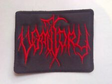 VOMITORY,SEW ON RED EMBROIDERED PATCH