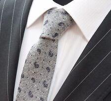 Tie Neck tie Slim Grey Patterned Quality Cotton T6022
