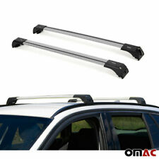 Roof Rack Cross Bars Luggage Carrier Silver Set for BMW X3 2010-2017