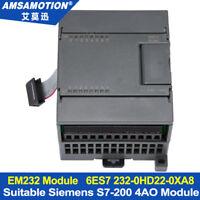 EM232 4AO Module For S7-200 PLC 4Output Analog Module 6ES7 232-0HD22-0XA8
