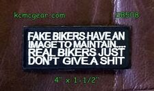 Fake Bikers Have An Image To Maintain Small Badge Biker Vest Motorcycle Patch