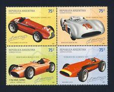ARGENTINIEN 2682-2685 ** Rennwagen FANGIO Formel 1 Mercedes Alfa Romeo Maserati