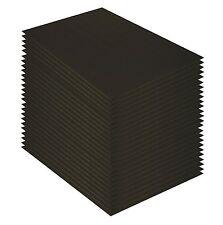 """Pack of 25 8x10 3/16"""" BLACK Foam Core Backing Boards"""