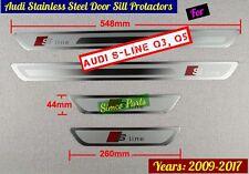 Audi S-Line Q5 Door Sill Scuff Plate Guards Protractors 2009-2017