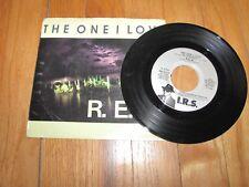 "R.E.M. - THE ONE I LOVE b/w mAPS AND LEGENDS - I.R.S. RECORDS 7"" SINGLE"