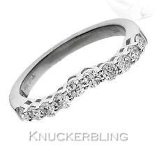 CURVA a forma di diamante anello nuziale 0.60ct taglio a brillante F VS in oro bianco 18ct
