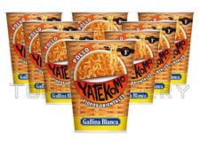 8 x Gallina Blanca YATEKOMO Chicken Flavor Instant Noodles Soup Bucket 60g 2.1oz
