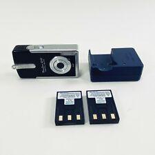 Canon 4.0 MP PowerShot SD10 Digital Elph Black Batteries Charger Tested Japan