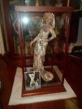 "Marilyn Monroe Doll Porcelain Franklin Mint ULTIMATE MARILYN 24"" In Display Case"