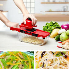 Steel Mandoline Slicer Adjustable Blades Kitchen Food Vegetable Cutter&Container