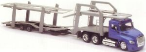 New  Ray 1/43 Freightliner Cascadia w/Double Decker Auto Carrier (Die  NRY16033