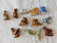 Wade Set of 12 Animals Figurines, Red Rose Tea, Dogs, Cats, Bird, Horse, Owl.