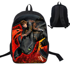 UK Kids Boys Backpack How to Train Your Dragon School Bags Travel Knapsack Gift
