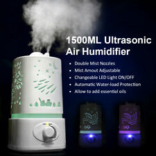 1.5L LED Ultrasonic Humidifier Air Purifier Oil Aroma-Diffuser Aromatherapy UK