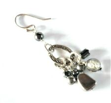 SILPADA Sterling Silver Designer Dangle Earring SINGLE Replacement Hematite Bead