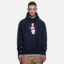 Kith NYC Coca Cola Polar Bear Navy Blue Hoodie Sweater Limited Mens Size 2XL New